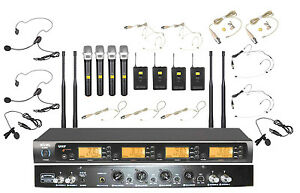Pro-UHF-Wireless-Music-Karaoke-Microphone-System-For-Large-Concert-Stage-Church