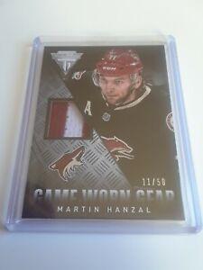 2013-14-Titanium-Martin-Hanzal-Jersey-Game-Worn-Gear-50-Coyotes-GG-MHZ-L-K