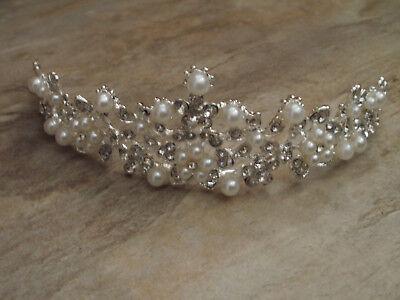 Zielstrebig Tiara Diadem Haarreif Brautschmuck Haarschmuck Strass Perlen Hochzeit 1773 Tiaras & Haarreifen Braut-accessoires