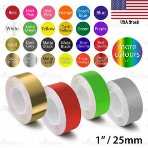 "1/"" Vinyl Pinstriping Pin Stripe Car DIY Styling Trim Tape Decal Sticker 25mm"