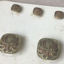 Boutons De Col Manchette Métal Doré 1900 Art Nouveau Jugendstil Cufflinks Button