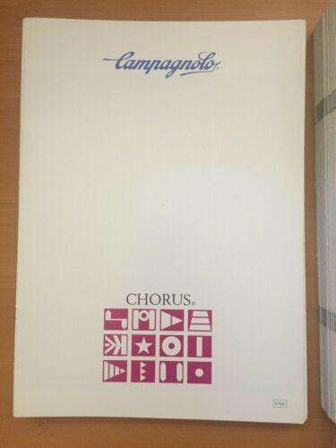 CHORUS NOS Campagnolo Catalog Catalogue Brochure C-RECORD FLUID DYNAM WHEELS