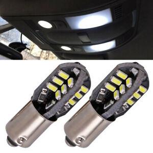 2x-BA9S-233-T4W-24SMD-Canbus-Auto-LED-Standlicht-Ruecklicht-Lampe-Birne-12V-Weiss