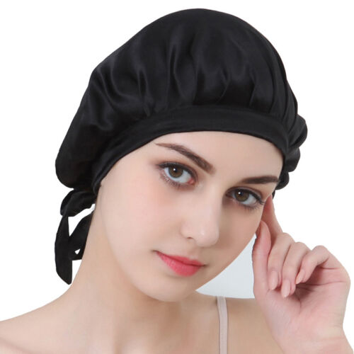 100/% Pure Silk Cap Hat Sleeping Bonnet Hair Styling Satin Scarves Protect S O9A7
