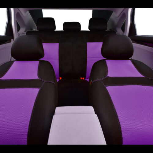 CAR PASS Rainbow Universal Fit Car Seat Cover Breathable Purple Rear Split Bench