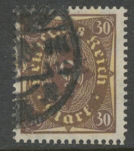DT-REICH-Posthornmarke-30-M-braun-hellchromglb-Type-II-W-gest-INFLA-geprueft