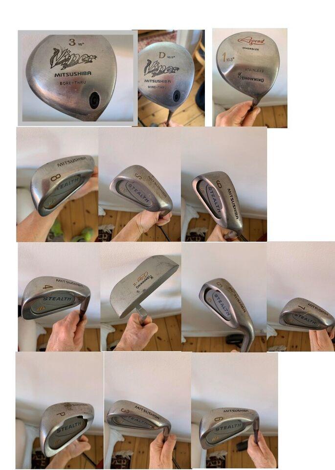 Herre golfsæt, stål, Mitsushiba
