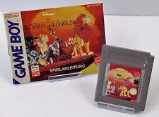 Nintendo Game Boy GB - Der König der Löwen + Anleitung