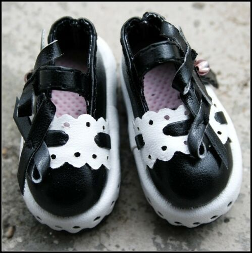 PF Shoes ~~4.5cm 1//6 Black And White LUTS BJD AOD Dollfie Leather Clothing
