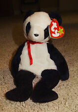 TY Beanie Baby Fortune Panda Bear White & Black PE Pellets 1997 Mint - TH