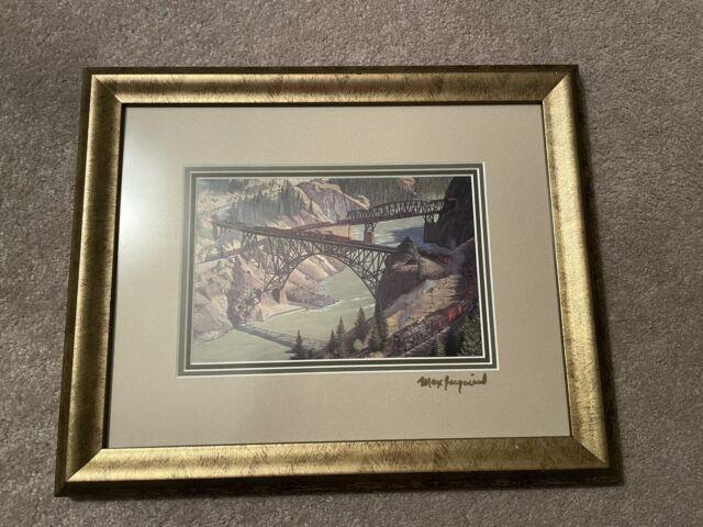Signed Max Jacquiard Print, Canadian Pacific Railway, CP Rail,