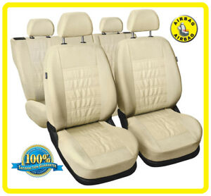 Car seat covers fit Hyundai i10 full set black//red leatherette//polyester