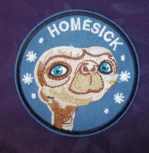 PATCH EMBROIDERED EXTRA TERRESTRIAL PHONE HOME OUCH 80/'S ELLIOT SEW// IRON E.T