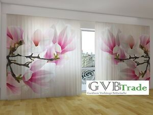 "Fotogardinen ""sweet Magnolien"" Fotovorhang Panorama Vorhang Gardinen Auf Maß Home & Garden Curtains, Drapes & Valances"