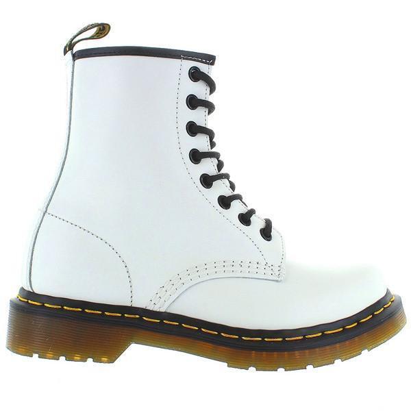 Dr Martens 1460 1460 1460 W - 8-Eye blancoo Liso Bota De Cuero Con Cordones  tienda en linea
