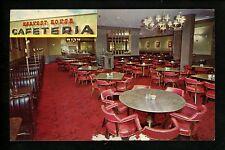 Restaurant postcard Boardman Ohio OH Harvest House Cafeteria interior chrome