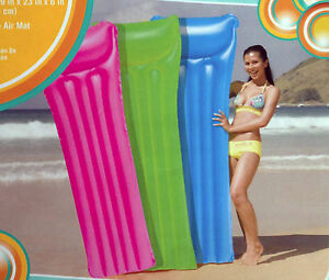 Image Is Loading Clearwater Surfer Inflatable Beach Air Mattress Vinyl  Swimming