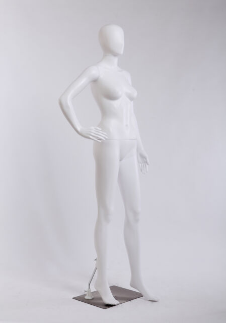 Abstrakte Schaufensterpuppen MC-1W weiß lackierte Hautfarbe matt Egghead Mann