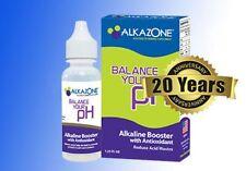 Alkazone Alcalina PH BOOSTER gocce per acqua, 45 giorni di fornitura 1.25oz Nuovo Pacchetto