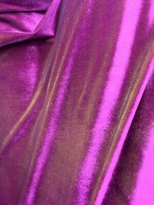 """VELVET PANNE CRUSHED BACKDROP VELOUR STRETCH FABRIC 60/"""" WIDE PLUM BY THE YARD"""