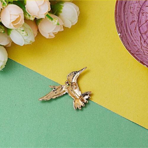 Vintage broche animal grande Pin de Solapa Oro Esmalte insectos Pájaro Cristal jewelrylh