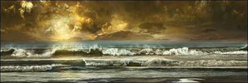 Vista Keilrahmen-Bild Leinwand Meer Brandung Wellen Woken Mike Calascibetta