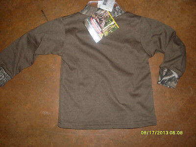 RealTree Xtra Antler Creek Men/'s Brown Long Sleeve Thermalw//camo collar LARGE