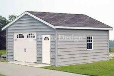 18 X 24 Car Garage Plans / Workshop Structure,  Materials List Included #51824