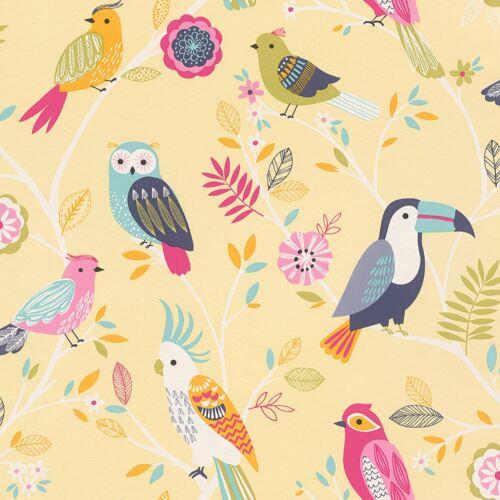 RASCH BIRDS WALLPAPER YELLOW 293029 NEW KIDS NURSERY