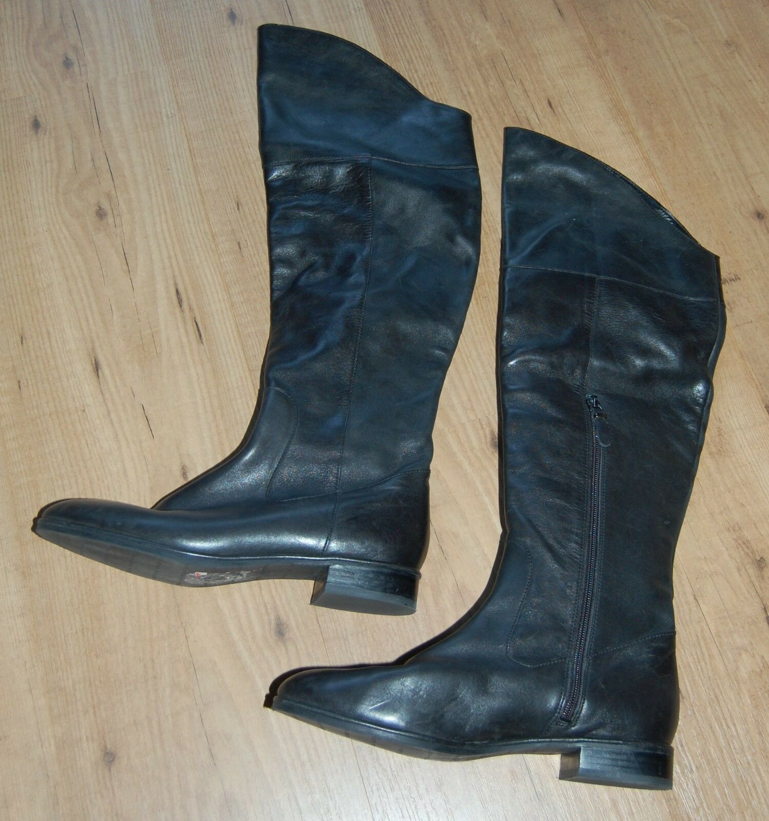 VIA SPIGA ZIP KAILEY BLACK LEATHER ZIP SPIGA OVER KNEE HIGH RIDING Stiefel  Größe 8.5 ebf8e1
