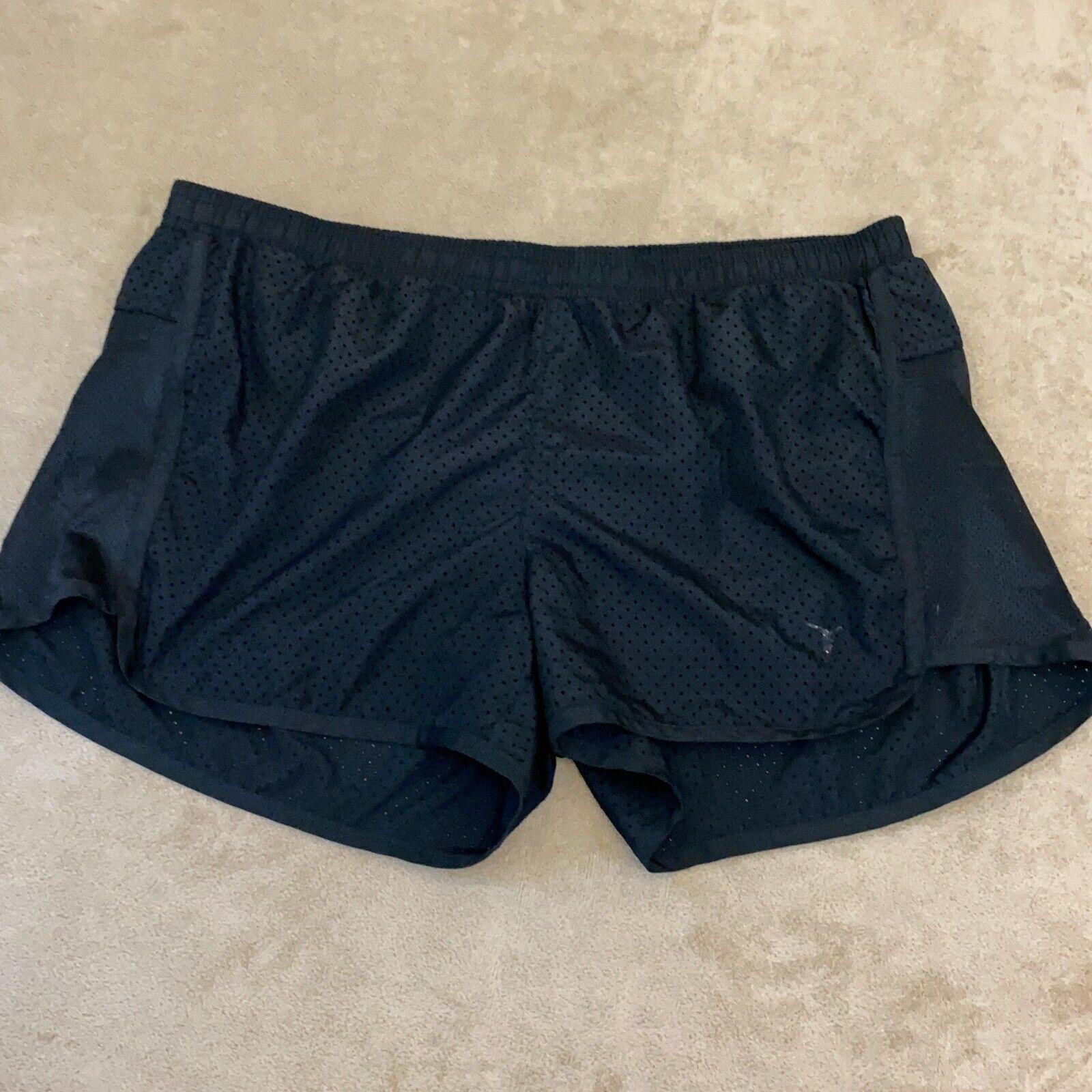 Old Navy Womens Black Elastic Waist Flat Front Athletic Shorts Size Medium