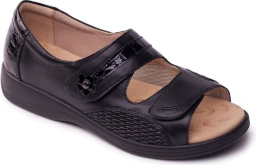 Padders GRACE Womens Ladies Comfy Casual Leather Super EEEE Wide Fitting Sandals
