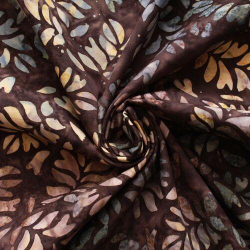 """100/% algodón premium 7 Col 44/"""" de ancho Indonesia Batik de Bali impresión de hoja de plátano"""