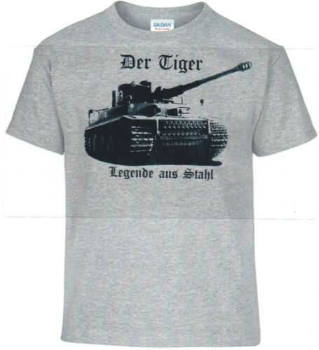 la Défense T-Shirt Combat Empire Allemand Tigre Légende en Acier
