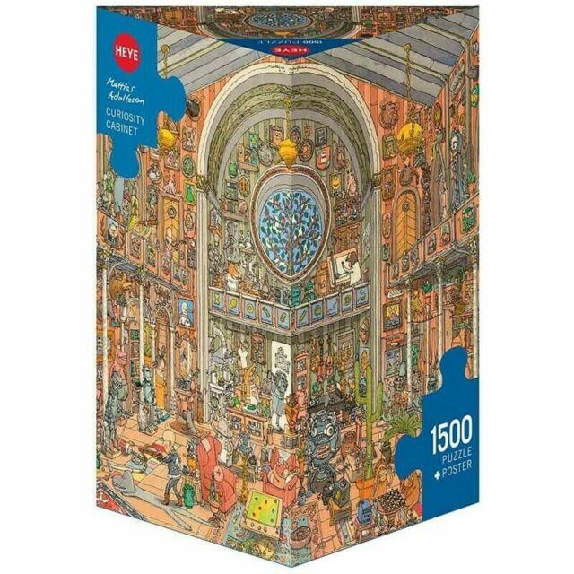 Heye Curiosity Cabinet By Mattias Adolfsson 1500pcs Puzzle (New)
