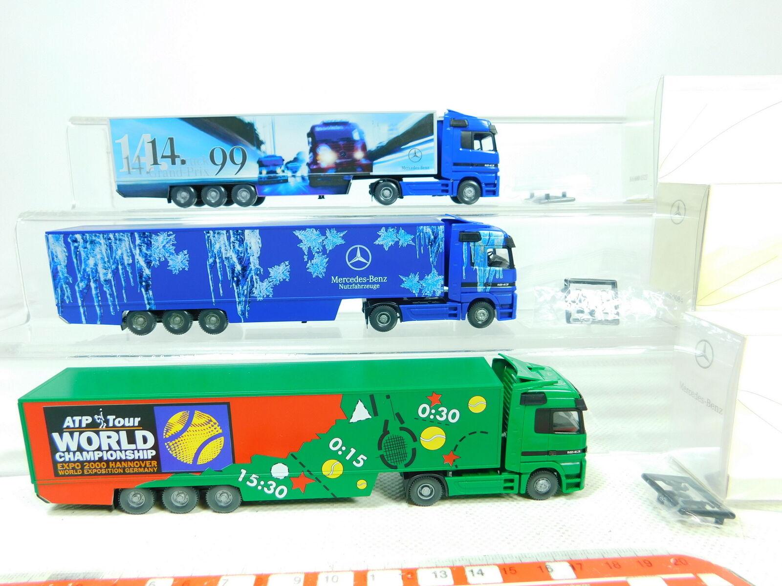 BT338-0,5 x Wiking H0   1 87 Lorry MB MB MB  600 Grand-Prix + Atp etc. ,Very Good dba073