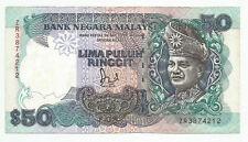 """MALAYSIA  RM50  JAFFAR HUSSEIN  TDLR  ZR_3874212  """"aEF"""""""