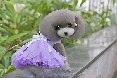 Summer Various Pet Puppy Small Dog Cat Lace Part Dress Apparel Luxury Clothes
