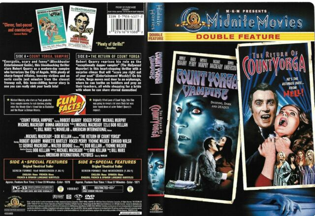 Count Yorga Vampire - The Return of Count Yorga (Sensormatic 2004 DVD) Mint Disc