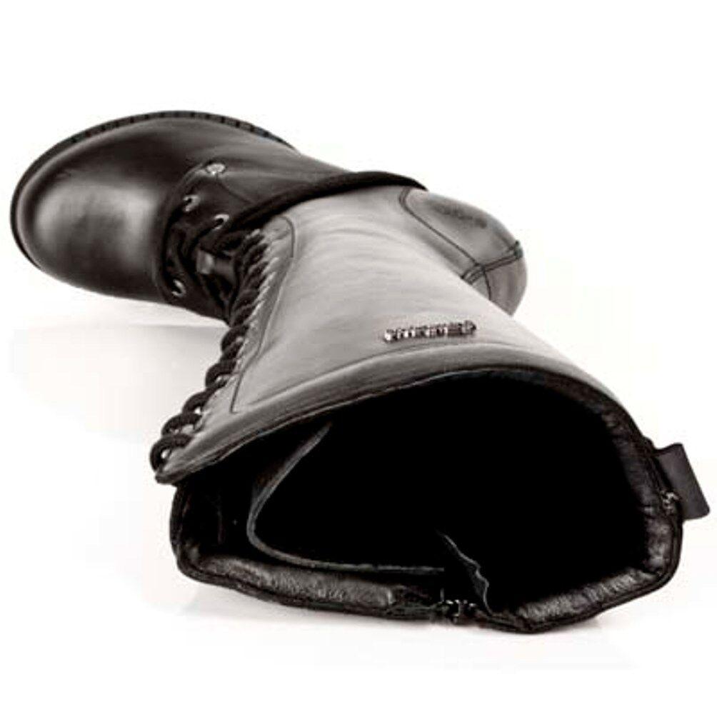 New Rock Boots Womens Punk Gothic S1 Stiefel - Style TR005 S1 Gothic Schwarz - Damen b70e71