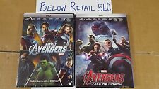 NEW! Marvel Avengers & Avengers: Age Of Ultron (DVD) Complete set 1 & 2 (BOTH)