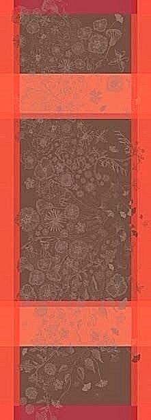 GARNIER-THIEBAUT, poetree Rose FRENCH Jacquard Table Runner, 59  X 21 , NEUF
