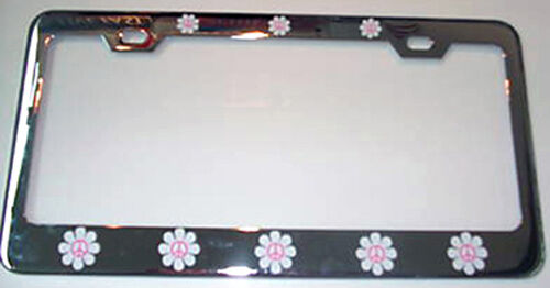 DAISY PEACE FLOWER FLOWERS License Plate Frame