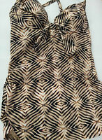 Seafolly Amazon Bustier Singlet Amazonsep Brown Sugar Size 8 Rrp$150