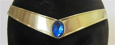 Sailor Uranus Faceted Blue Gem Metal Cosplay Tiara