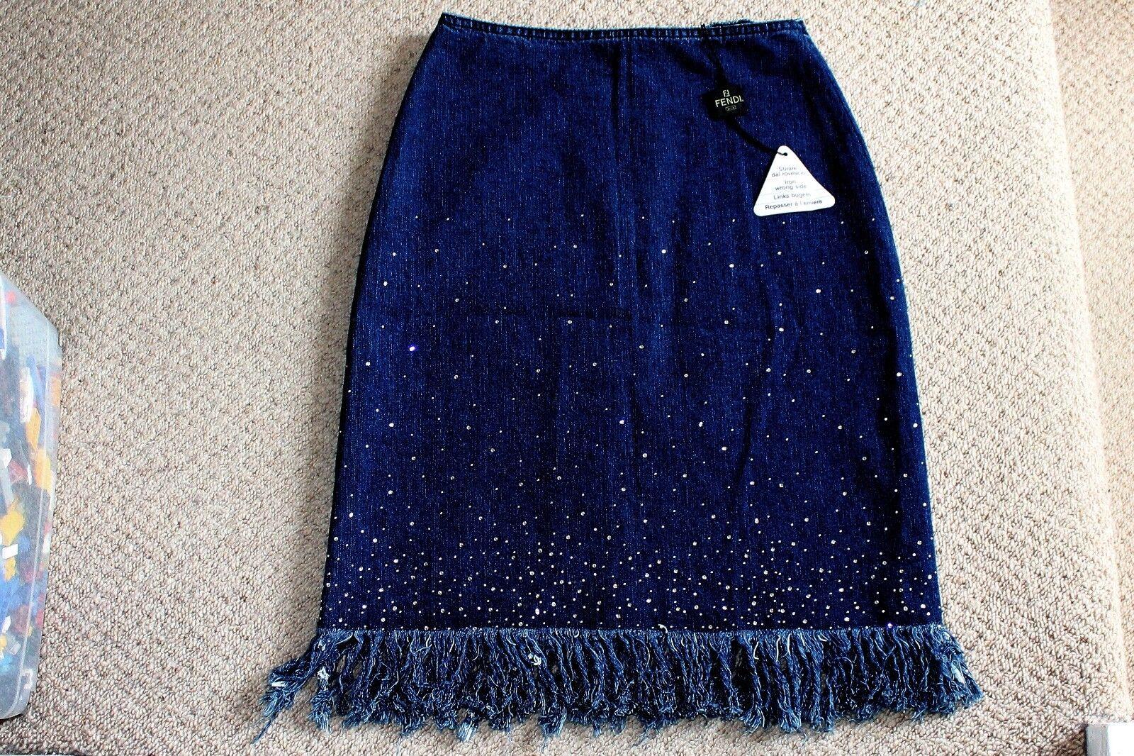 Genuine Fendi Denim Skirt - Brand New With Tag -  ovno