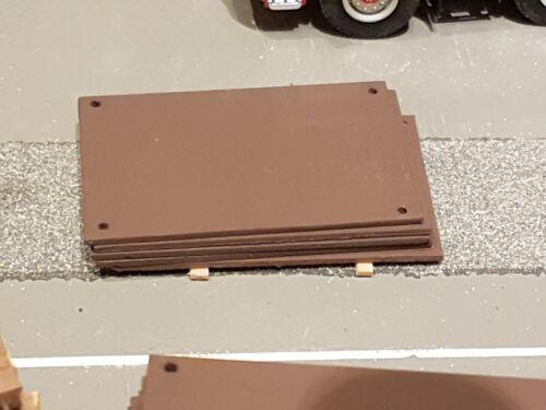 1:50 Modellbau Stahlplatten Baustrasse 5 Überfahrplatten