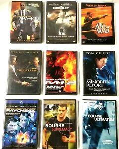 9-Action-Adventure-DVD-Movie-Lot-Jason-Borne-Al-Pacino-Wesley-Snipes-Paycheck