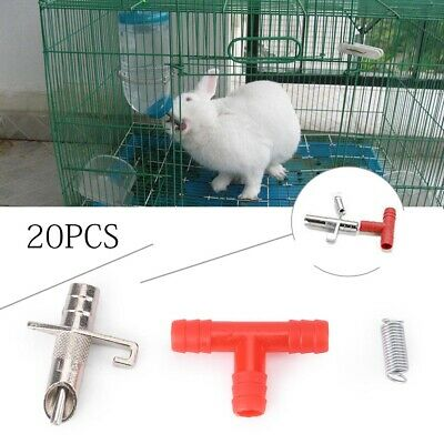 For Rabbit Bunny Rodents Automatic Nipple Water Feeder Drinker Waterer 5 Sets