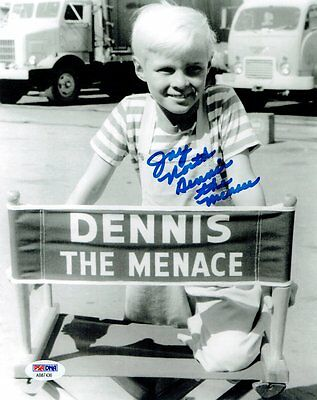 Tireless Jay North Signed Dennis The Menace Autographed 8x10 B/w Photo Psa/dna #ab87436 2019 Latest Style Online Sale 50% Movies
